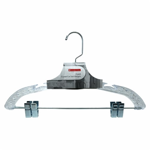 Everyday Living® Crystal Cut Suit Hangers Perspective: front