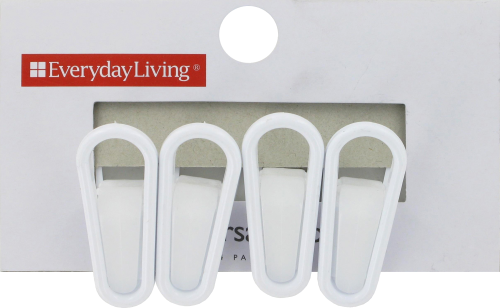 Everyday Living® Universal Hanger Clips - White Perspective: front