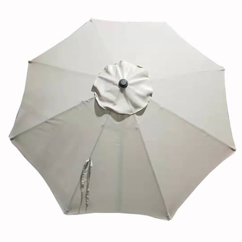 HD Designs Outdoors® Market Umbrella - Taupe Perspective: front