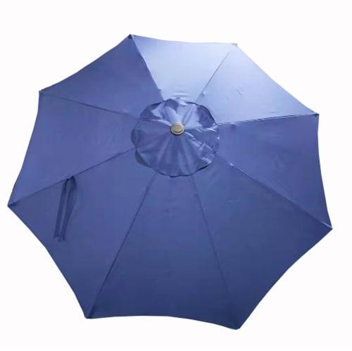 HD Designs Outdoors® Market Umbrella - Blue Perspective: front