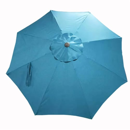 HD Designs Outdoors® Market Umbrella - Teal Perspective: front