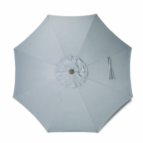 HD Designs Outdoors® Market Umbrella - Gray Perspective: front
