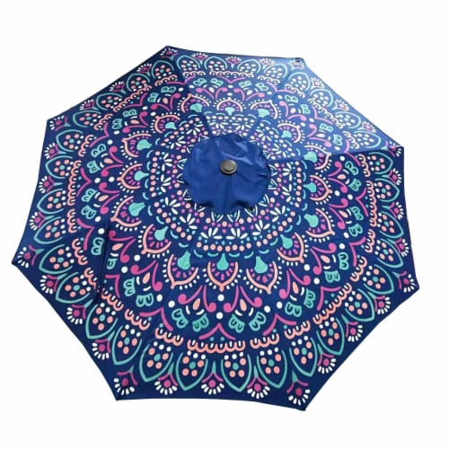 HD Designs Outdoors® Market Umbrella - Medallion Perspective: front