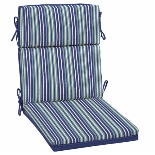 HD Designs Outdoors® Replacement Cushion - Blue Stripe Perspective: front