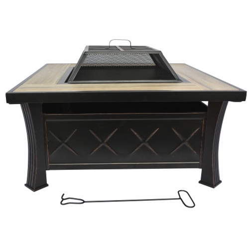 HD Designs Outdoors® Firepit Table - Black Perspective: front