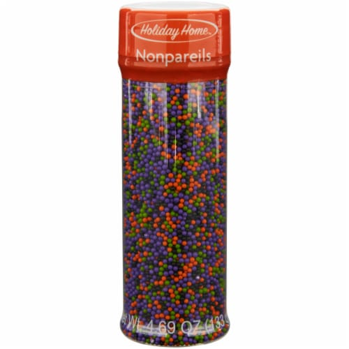 Holiday Home Halloween Nonpareils Sprinkles Perspective: front