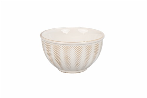 Dash of That Brooklyn Chevronette Tidbit Bowl - White Perspective: front