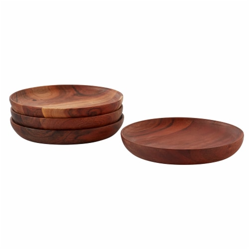 Dash of That Wooden Appetizer Plates - Brown Perspective: front