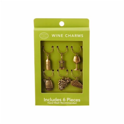 Dash of That® Wine Charms - Antique Gold Perspective: front