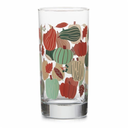 Holiday Home® Pumpkins Glass Tumbler Perspective: front