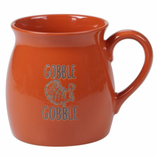 Holiday Home® Gobble Gobble Wax Relief Mug Perspective: front