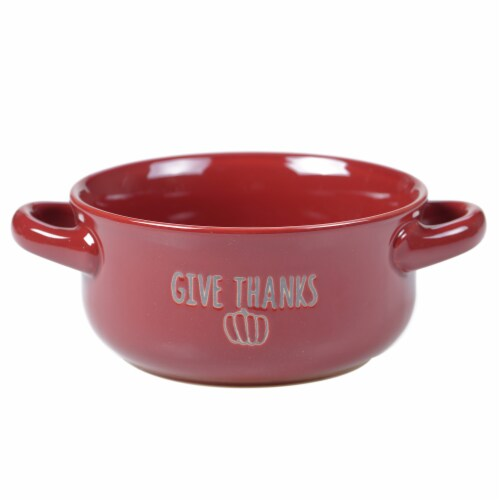 Holiday Home® Give Thanks Wax Relief Soup Crock Perspective: front
