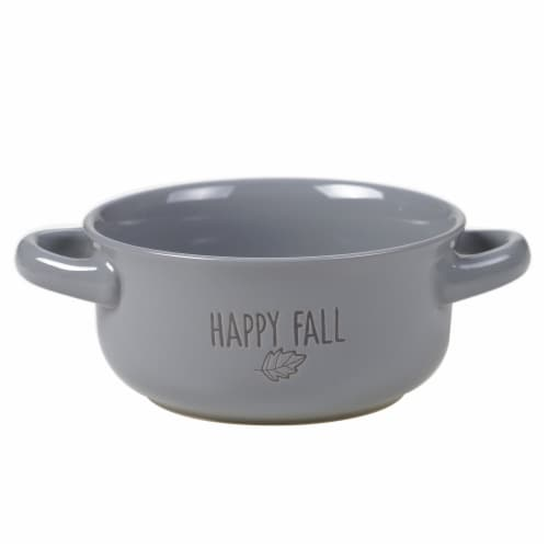 Holiday Home® Happy Fall Wax Relief Soup Crock Perspective: front