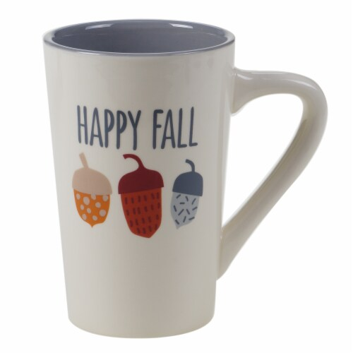 Holiday Home® Happy Fall Jumbo Latte Mug Perspective: front