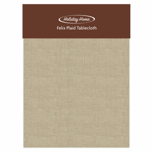 Holiday Home® Felix Plaid Tablecloth - Solid Tan Perspective: front
