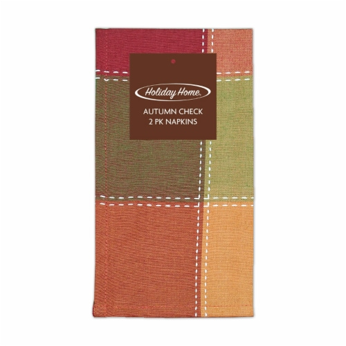 Holiday Home® Autumn Check Napkins Perspective: front