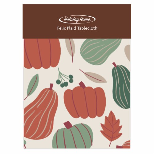 Holiday Home® Felix Plaid Tablecloth - Pumpkin Perspective: front