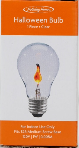 Holiday Home® Halloween 75-Watt E26 Medium Screw Base Light Bulb - Clear Perspective: front