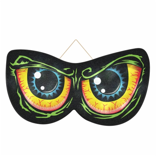 Holiday Home Animated Lighted Scary Eyes Perspective: front