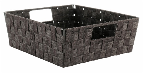 Everyday Living Woven Strap Shelf Tote - Espresso Perspective: front