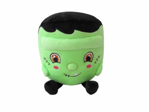 Holiday Home Round Plush Frankenstein Perspective: front
