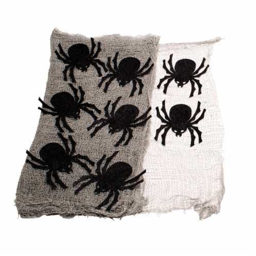 Holiday Home Creepy Spider Drape Decor Perspective: front
