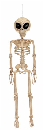 Holiday Home Skeleton Alien Decoration Perspective: front