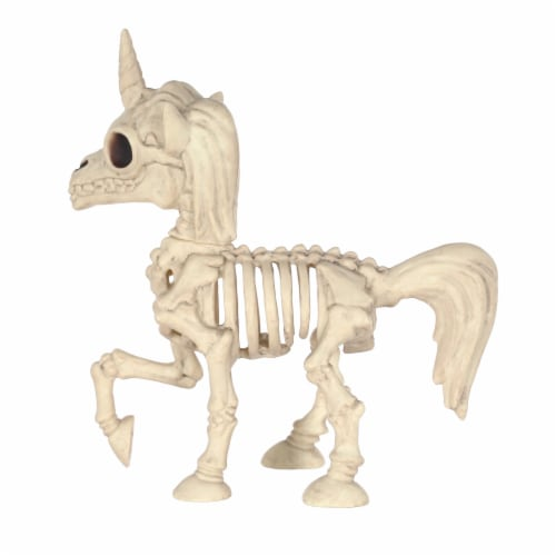 Holiday Home Skeletal Unicorn - Cream Perspective: front