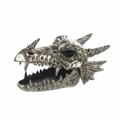 Holiday Home Skeletal Dragon Head - Silver Perspective: front