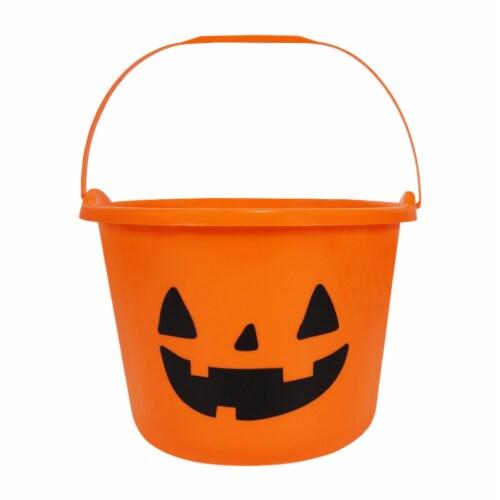 Holiday Home Jack o' Lantern Treat Bucket - Orange Perspective: front