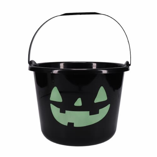 Holiday Home Glow Treat Bucket - Black Perspective: front