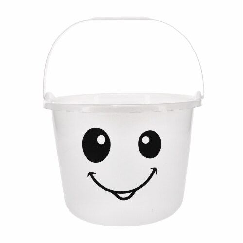 Holiday Home Ghost Glow Treat Bucket - White Perspective: front