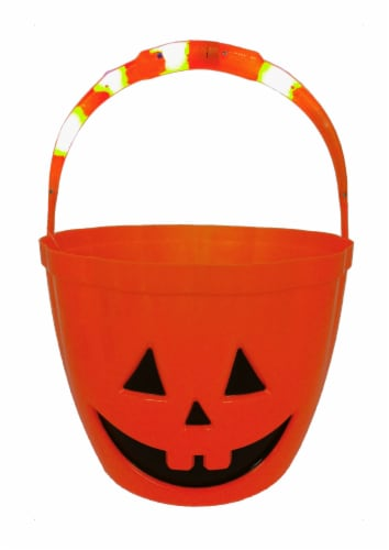 Holiday Home LED Treat Bucket - Orange Perspective: front