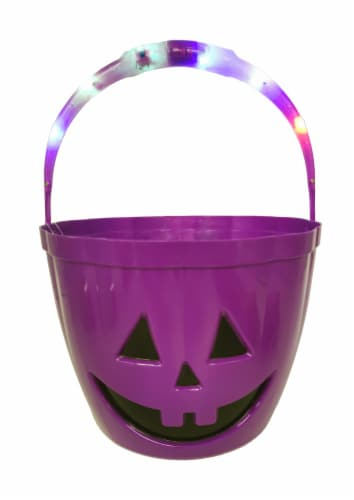 Holiday Home LED Treat Bucket - Purple Perspective: front