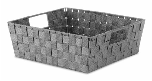 Everyday Living Woven Strap Shelf Tote - Gray Perspective: front