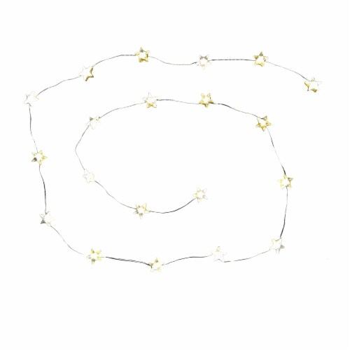 Holiday Home LED Star Party String Lights Perspective: front