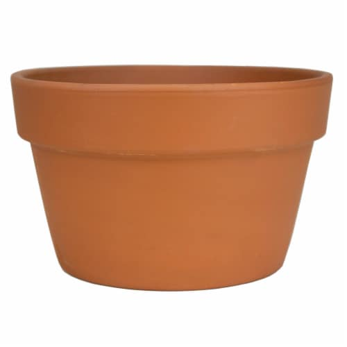 The Joy of Gardening Fern Pot - Red Perspective: front