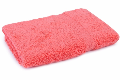 Everyday Living Wash Cloth - Hot Coral Perspective: front