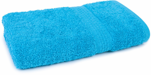 Everyday Living Hand Towel - Peacock Blue Perspective: front