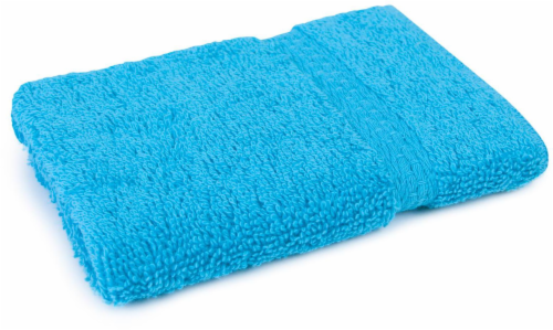 Everyday Living Washcloth - Peacock Blue Perspective: front