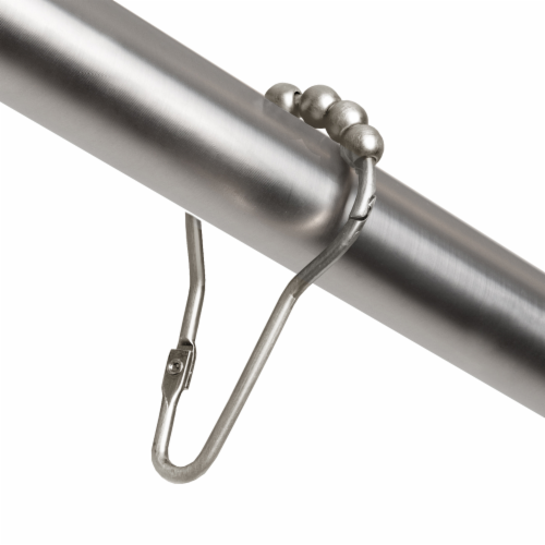 Everyday Living Hinged Glide Shower Curtain Hook  - Nickel Perspective: front