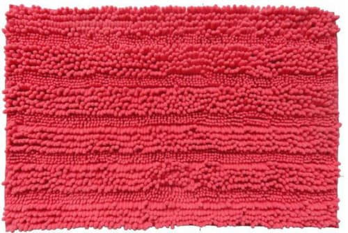 Everyday Living Spaghetti Bath Rug - Hot Coral Perspective: front