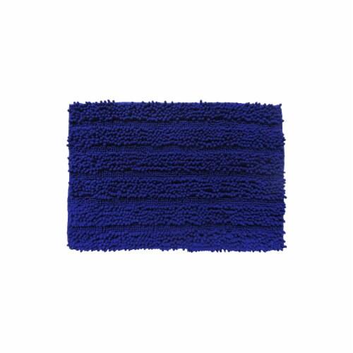 Everyday Living Spaghetti Bath Rug - Mazarine Blue Perspective: front