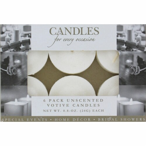 Everyday Living Candles for Every Occasion Unscented Votive Candles - White Perspective: front