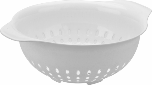 Everyday Living Plastic Colander - White Perspective: front