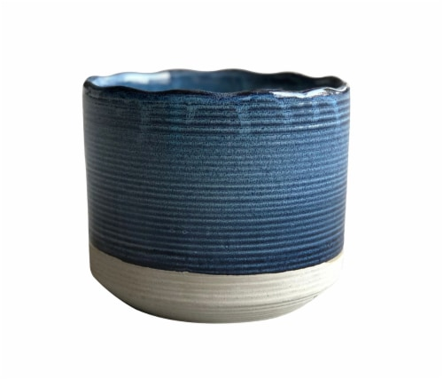 The Joy of Gardening Shore Planter - Blue Perspective: front