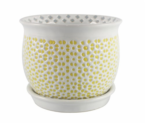 The Joy of Gardening Flair Planter - Yellow Perspective: front