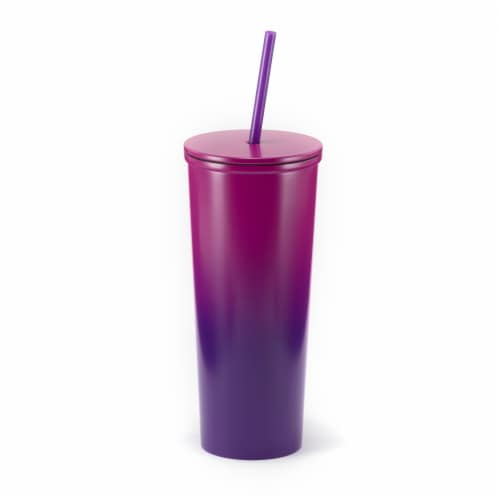 HD Designs Outdoors Stainless Steel Tumbler - Ombre Fuchsia Perspective: front