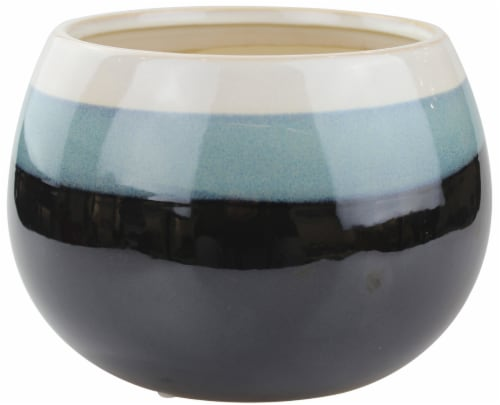 The Joy of Gardening Geode Low Egg Planter Perspective: front