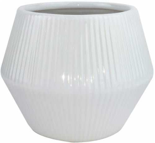 Everyday Living Rena Planter - White Perspective: front
